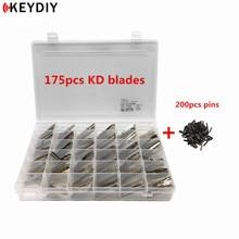 KEYDIY 175 قطعة 35 أنواع غير مصقول فارغة JMD/VVDI/KD البعيد شفرة مفتاح السيارة مع دبابيس مجانية ل KD900/KD X2 مبرمج