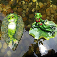 Outdoor Garden Decoration Creative Resin Craftwork Simulation Frog Floating Ornaments Living Room Fish Pond Ornaments X2673
