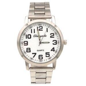 Reloj de pulsera de acero inoxidable para hombre y mujer, reloj de pulsera de alta calidad, sencillo, SN81, Número grande