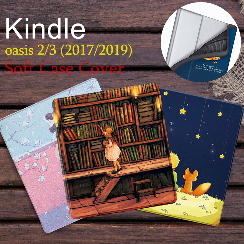 """Magnetic Soft Cover Case fit 7"""" Kindle Oasis 2017/2019 (9th and 10th Gen) eReader for Kindle Oasis 2/3 Auto Sleep/Wake Cover