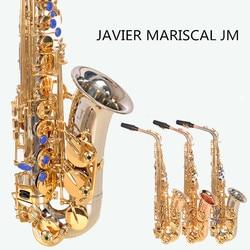 JM Tune Alto Saxophone Phosphorus Copper Rose Gold Lacquer Pearl Button E Flat Alto Sax Musical Instrument with Case