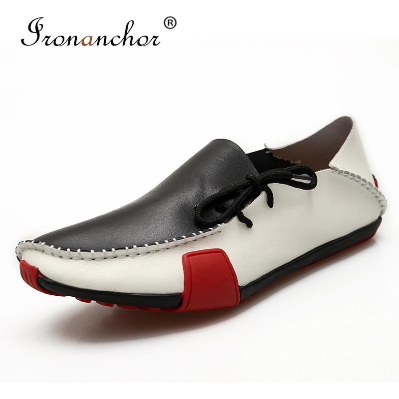 2019 Men Loafers Genuine Leather Brand Fashion Driving Casual Shoes Flat Men Moccasins #NR5883