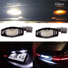 цена на SITAILE 18 LED License Plate Light for Honda Accord Civic Odyssey Acura MDX DL RL TSX Car Number Lamp 2pcs for honda accessories