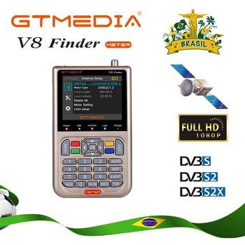 Brazil GTMEDIA /Freesat V8 Finder HD DVB-S2 Digital Satellite Finder High Definition Sat Finder DVB S2 Satellite Meter Satfinder