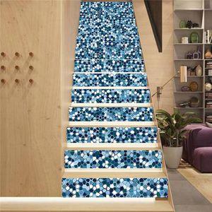 Image 2 - 13 ピース/セット 3D 階段ライザー床ステッカー防水自己粘着 diy 階段壁画家の装飾 X4YD
