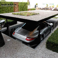 2 level parking lift portable car lifts for home garage underground garage lift