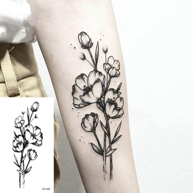 1 Pcs Waterproof Temporary Tattoo Sticker Body Arm Geometric Planet Jellyfish Tatoo Stickers Flash Fake Tattoos for Men Women(China)