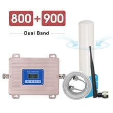 360 derece anten yükseltici 4G LTE 800 2G GSM 900 mhz sinyal tekrarlayıcı B20 B8 LCD ekran 65 dB kazanç 2g 3g 4g 800 900 mhz güçlendirici