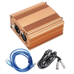 48V Usb zasilanie phantom Usb2.0 kabel podwójna wtyczka kabel mikrofonowy do mini mikrofon pojemnościowy sprzęt nagrywający w Akcesoria do mikrofonów od Elektronika użytkowa na