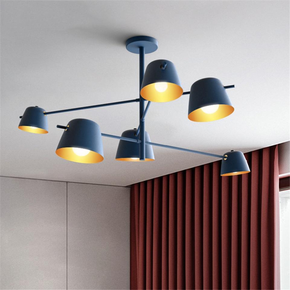 Moderne métal LOFT LED lustre éclairage salon chambre minimaliste vent carillon lustre Restaurant inter éclairage décor