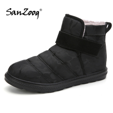 Plush Ankle Waterproof Mens Winter Boots Snow Shoes Men Boot Botines Botas Impermeables Hombre Chaussure Homme Hiver Size 48 49