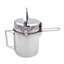 Открытый походный набор посуды из нержавеющей стали подвесной горшок складной с ручкой горшок для пикника столовая посуда для приготовления пищи