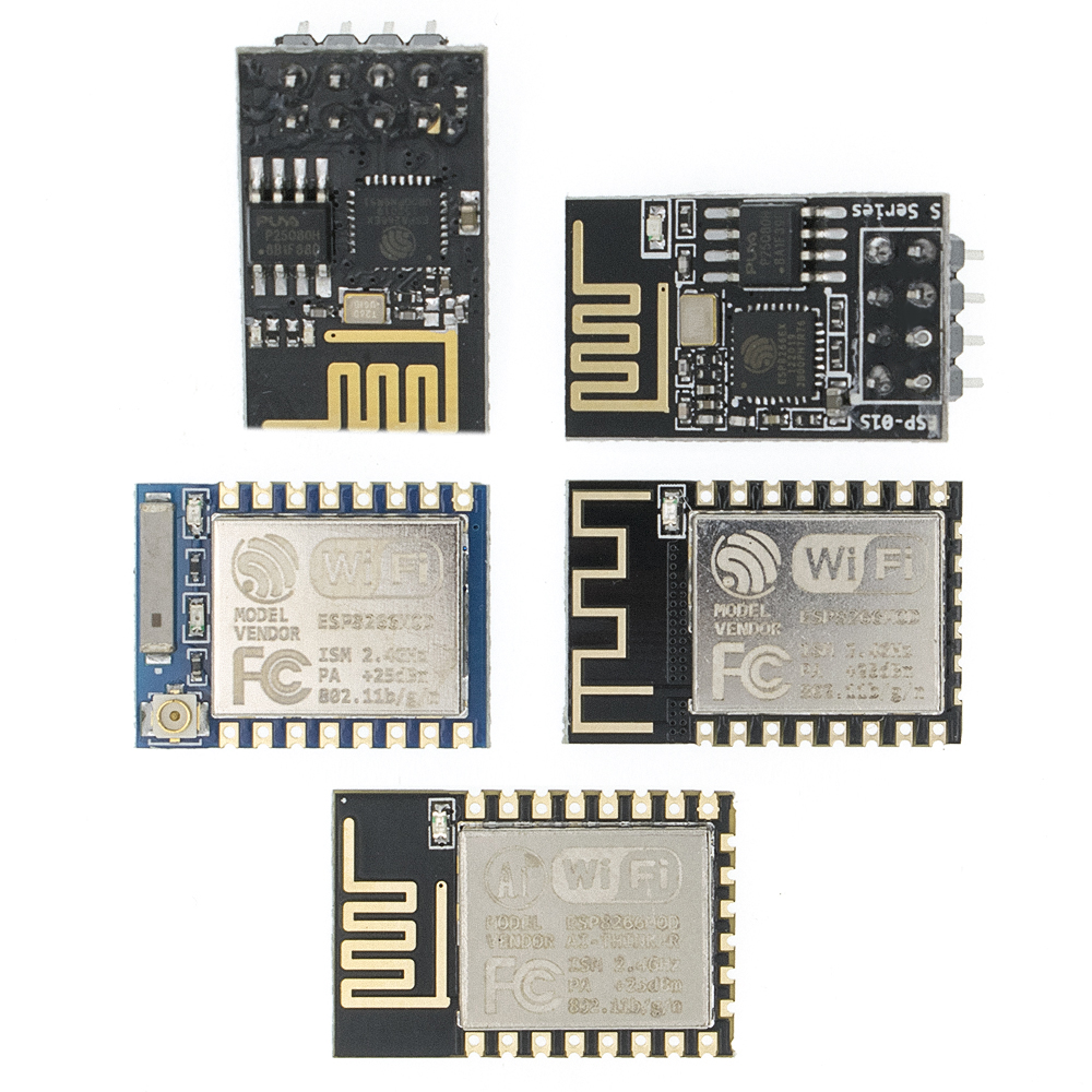 ESP8266 ESP-01/ ESP-01S/ESP-07/ESP-12E/ESP-12F Remote Serial Port WIFI Wireless Module Intelligent Housing System Adapter 2.4G