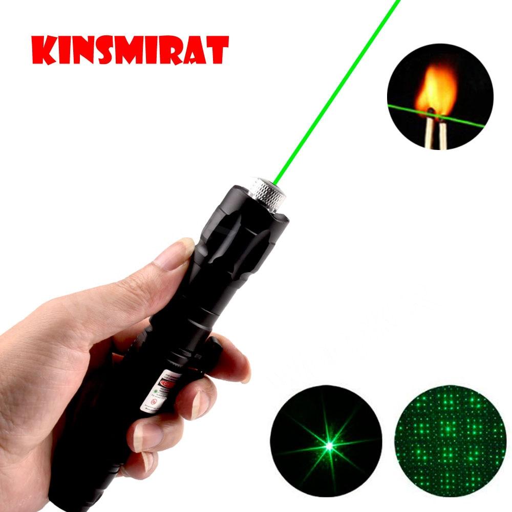 532nm 5mW puntero láser verde 303 serie de vista de linterna potente dispositivo ajustable foco láser pluma láser sin batería