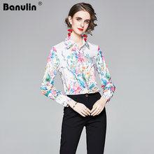 Великолепная рубашка с цветочным принтом и длинным рукавом женские