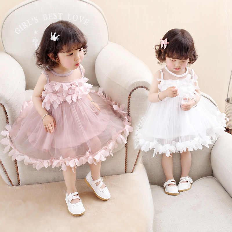 Платье для девочек коллекция 2018 года, новое летнее платье с принтом без рукавов, платье с принтом щенка в виде сердца платье с бантом в Корейском стиле для маленьких девочек