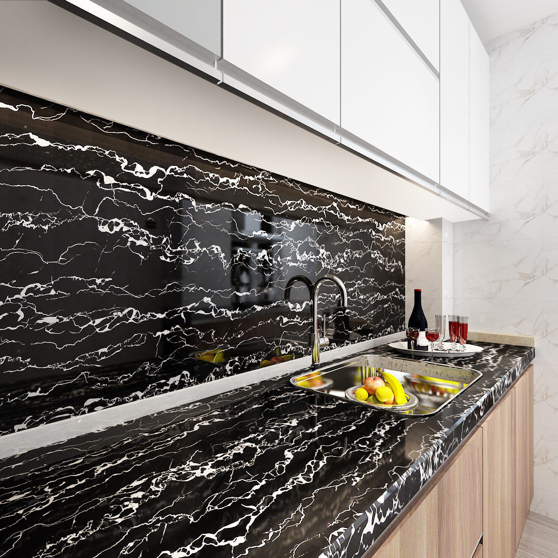 Marble Waterproof Contact Paper Vinyl Self Adhesive Wallpaper Decorative Film Kitchen Cabinet Countertop Furniture Table Sticker Wallpapers Aliexpress