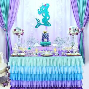 Huiran Romantic Little Mermaid Party Supplies Mermaid Birthday Party Favors First Birthday Girl Party Mermaid Decor Baby Shower