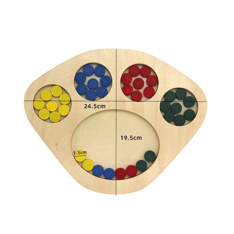 Kids Wooden Montessori Toys Memory Match Stick Educational Color Cognitive Geometric Shape Puzzles Toys For Children 13