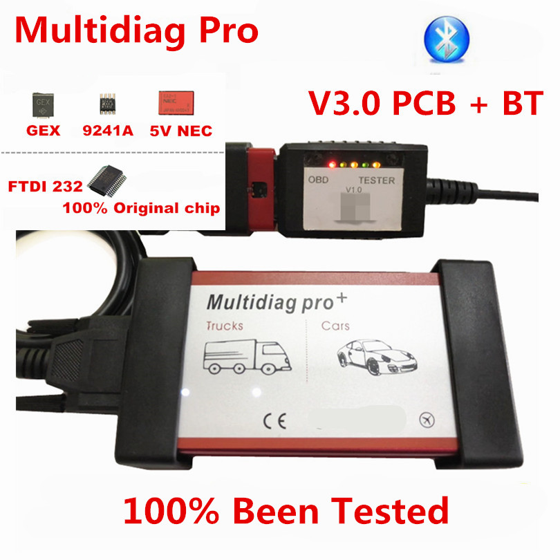Multidiag Pro Bluetooth TCS 2016.R1 +Keygen /2017.1 Software Multidiag Pro Auto OBDII Scanner Cars Trucks Auto Diagnostic Tool