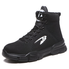 Plus Size mannen Winter Warm Stalen Neus Anti Smashing Werkschoenen Laarzen Mannen Punctie Proof Beschermende Veiligheid Hoge Top laarzen Schoenen(China)