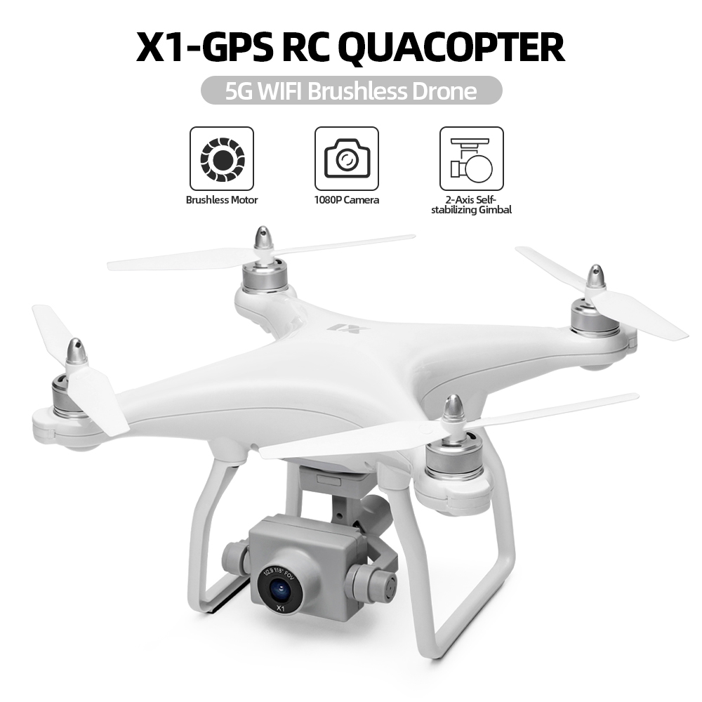 WLtoys XK X1 Drone with <font><b>Camera</b></font> 1080P 2-Axis Self-stabilizing Gimbal 5G Wifi FPV GPS Brushsss Motor Live <font><b>Video</b></font> RC Quadcopter image