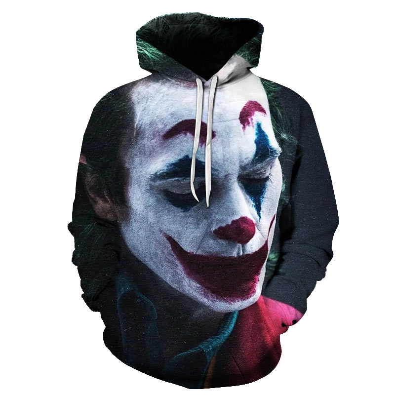 Joker Costume 2019 Sweatshirts Men Brand Hoodies Men 3D Printing Hoodie Male Casual Tracksuits Size S-6XL Wholesale And Retail