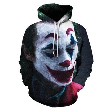 joker costume 2019 Sweatshirts Men Brand Hoodies Men 3D Printing Hoodie Male Casual Tracksuits Size S-6XL Wholesale and retail