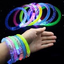1 шт. светодиодный акриловый свет мигающий вспыхивающий вечерние Клубные браслет Браслет-Игрушка подарки светодиодный браслет браслеты для запястья, мигающий