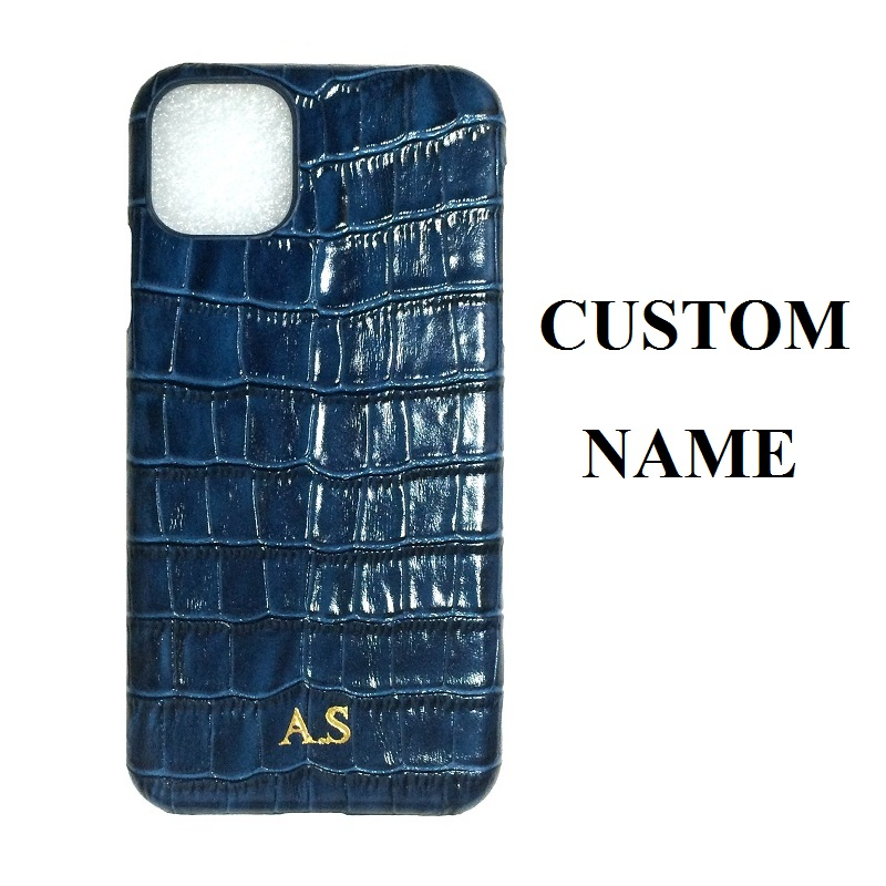 CUSTOM NAME Initials Letter Logo Genuiune Leather Case For iPhone 11 Pro Max 11Pro Cover mobile phone accessories dropship