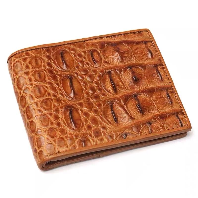 Genuine Crocodile Alligator Wallets Skin Leather Bifold Men/'s