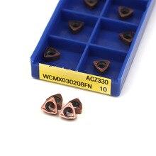 10 pcs WCMX030208 FN ACZ330 100% original SUMITOMO carbide tool CNC lathe turning tool