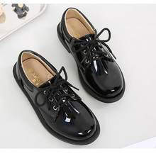 Spring New Shoe Boys Pu Leather Casual Loafers Baby Toddler Little Kid Black Flats Children School Uniform Dress Shoe B666(China)