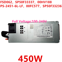 New PSU For Lenovo RD650 RD450 350 TS560 450W Power Supply FSD062 SP50F33337 00HV188 PS-2451-6L-LF 00FC577 SP50F33236