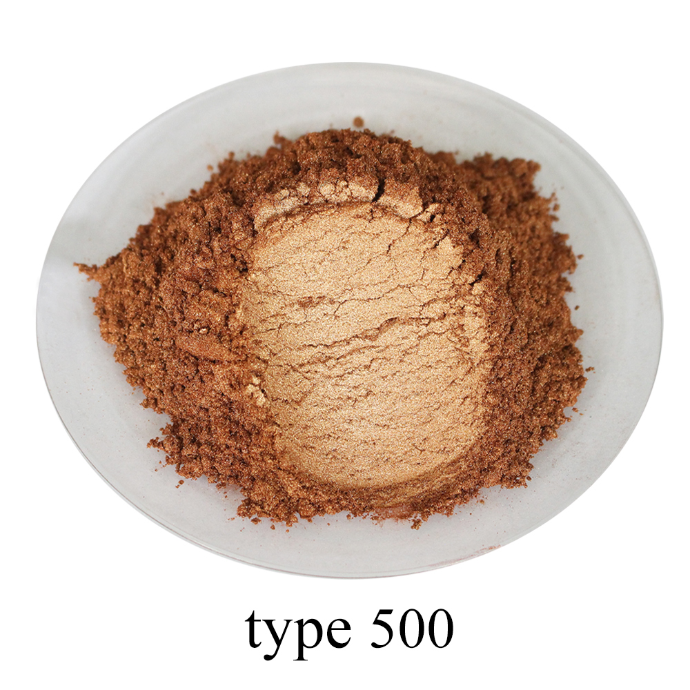 Pearl Pigment Mineral Mica Powder Type 500 Gold Powder Paint For DIY Dye Colorant Soap Cars Art Crafts 50g Acrylic Paint