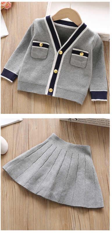 Teenster Kerst Kleding Winter Meisje Outfits Gebreide Trui Vest Top & rok Fall Kids Kostuum Meisje School Kleding