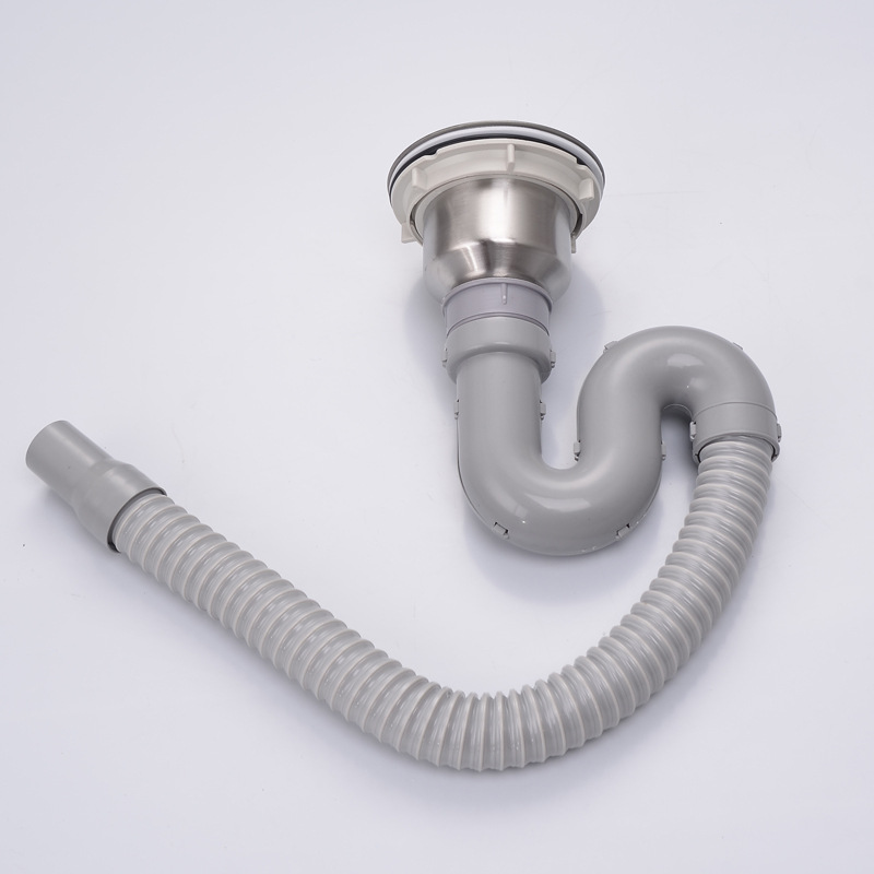 temkunes 140mm drain kit for kitchen sink stainless steel 304 drain assembly waste strainer and basket s trap sink drainer