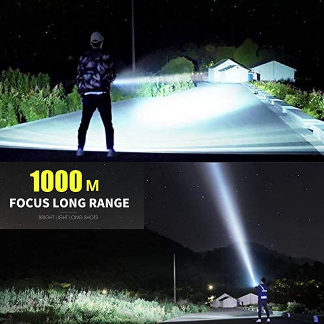 Super Powerful LED Flashlight  Waterproof torch USB rechargeable CREE XHP70 lamp Ultra Bright Lantern for camping  hunting 4