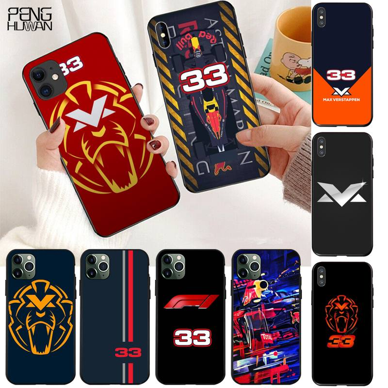 Custodia per telefono F1 Racer Lucky Number 33 per iphone 12 11 Pro Max Mini XS Max 8 7 6 6S Plus X 5s SE 2020 XR Cover