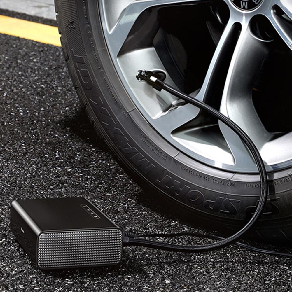 12V Mini Car Air Compressor Tire Inflatable Pump Portable Inflator Pump Electric Intelligent Car SUV Tyre Inflator For Baseus