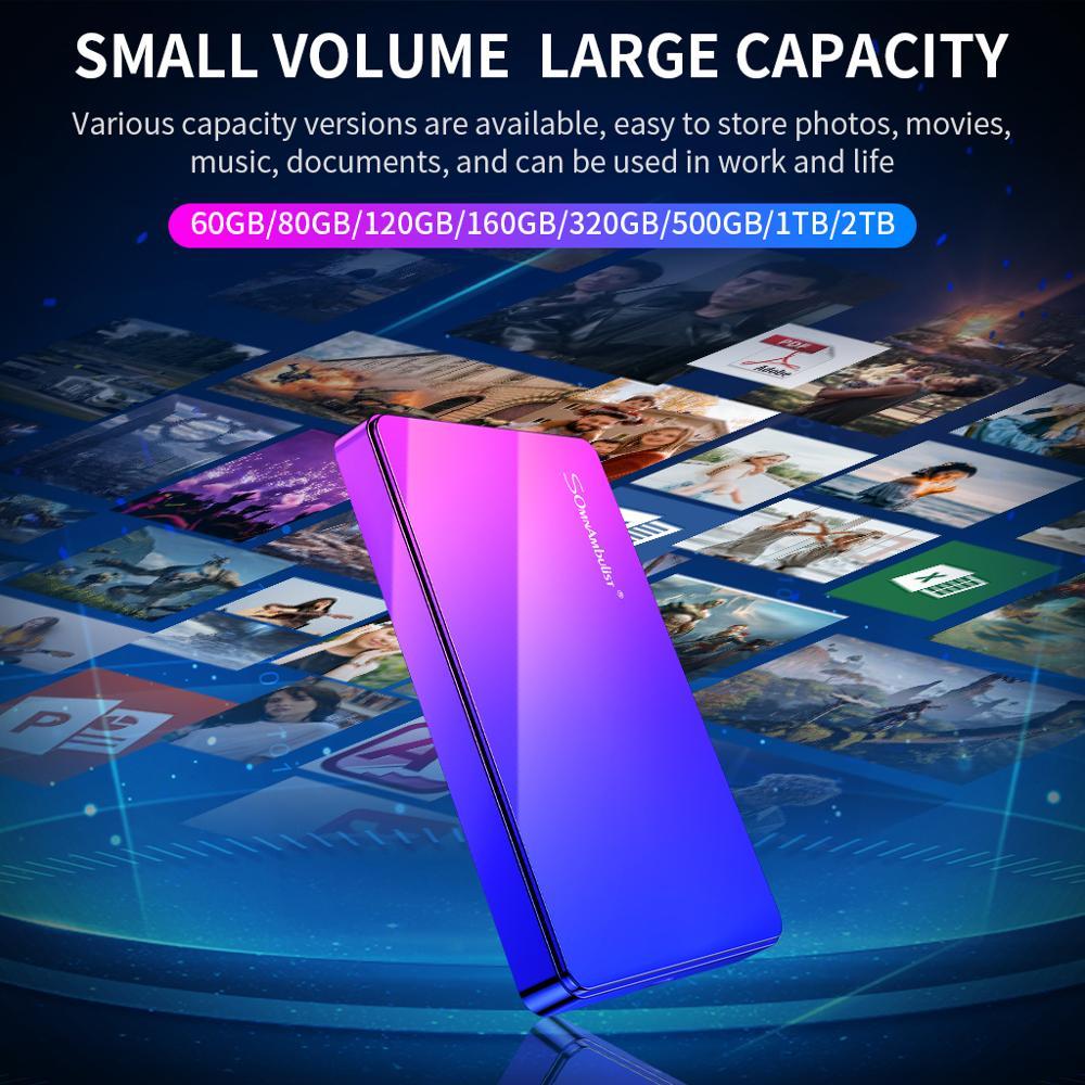 Disco duro Externo 2TB 1TB HD, dispositivo de almacenamiento HDD, para ordenador de escritorio o Notebook|Discos duros externos| - AliExpress