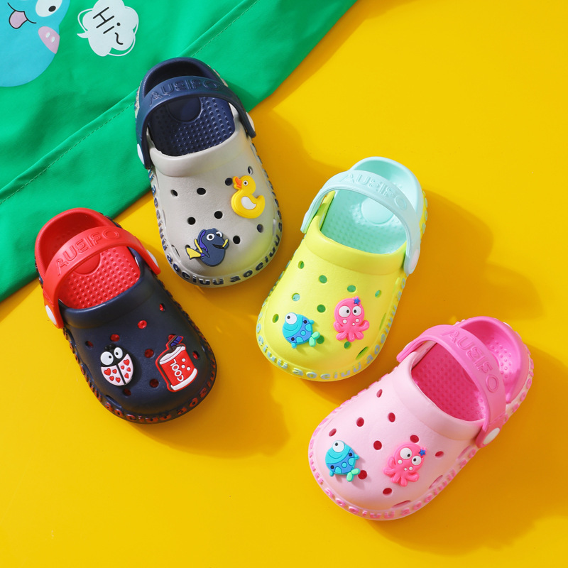 Summer Children's Non-Slip Slippers for Baby Boys Girls Toddler Cartoon Beach Sandals Casual Home Shoes