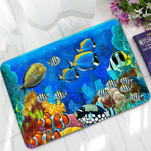 New 3D Ocean Carpet Rubber Soft Area Rug Decoration Bedroom Rectangle Floor Mat Wholesale Free Shipping #R25