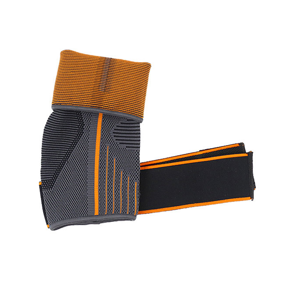 1pc Sports Breathable Elastic Warm Nylon Striped Sprain Prevention Magic Sticker Brace Gym Protector Running Strap Ankle Support