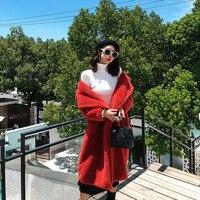 Fur Coat Women Winter Super Warm 100% Wool Outwear Oversized Teddy Bear Icon Coat rf0166