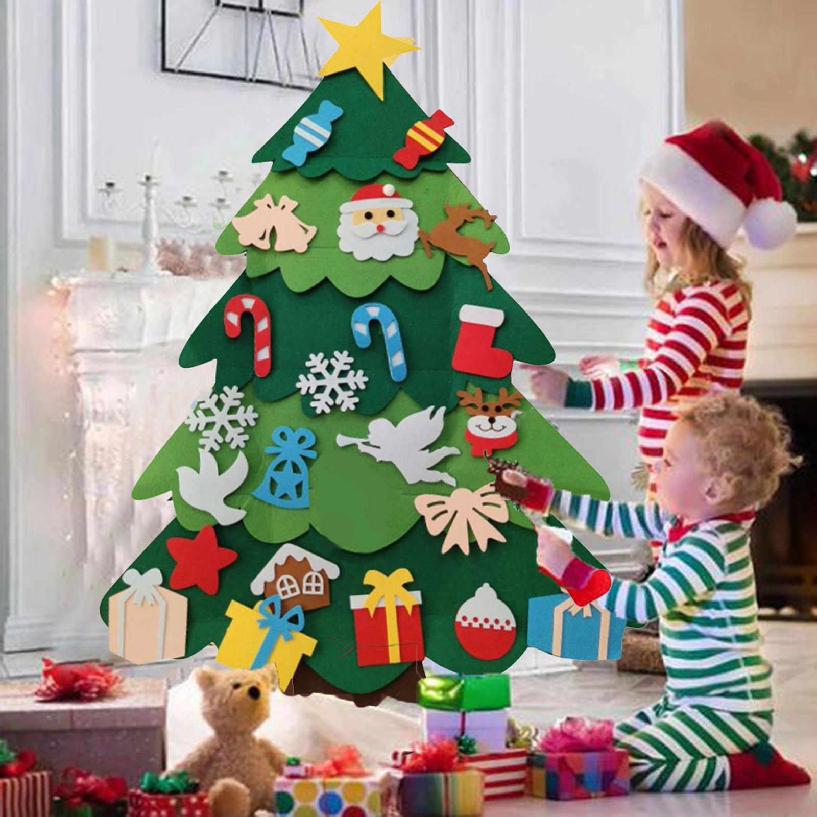 Albero Di Natale X Bambini.Fai Da Te Feltro Di Natale Albero Di Natale Decorazione Babbo Natale Per Bambini Giocattoli Di Natale Decorazione Per La Casa 2021 Di Natale Appeso Ornamenti Nuovo Anno 2021 Regalo Pendenti E Decorazioni