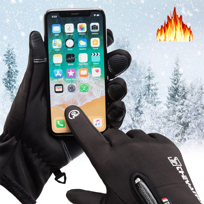 Warm Skiing Gloves Winter Thermal Handschoenen Sports Waterproof Windproof Screen Induction Motorcycle Driving Hiking Gloves