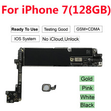 цены на For iPhone 7 Motherboard 128G ,100% Original for iPhone 7 Logic boards Free iCloud Unlock Black White Gold Pink  в интернет-магазинах