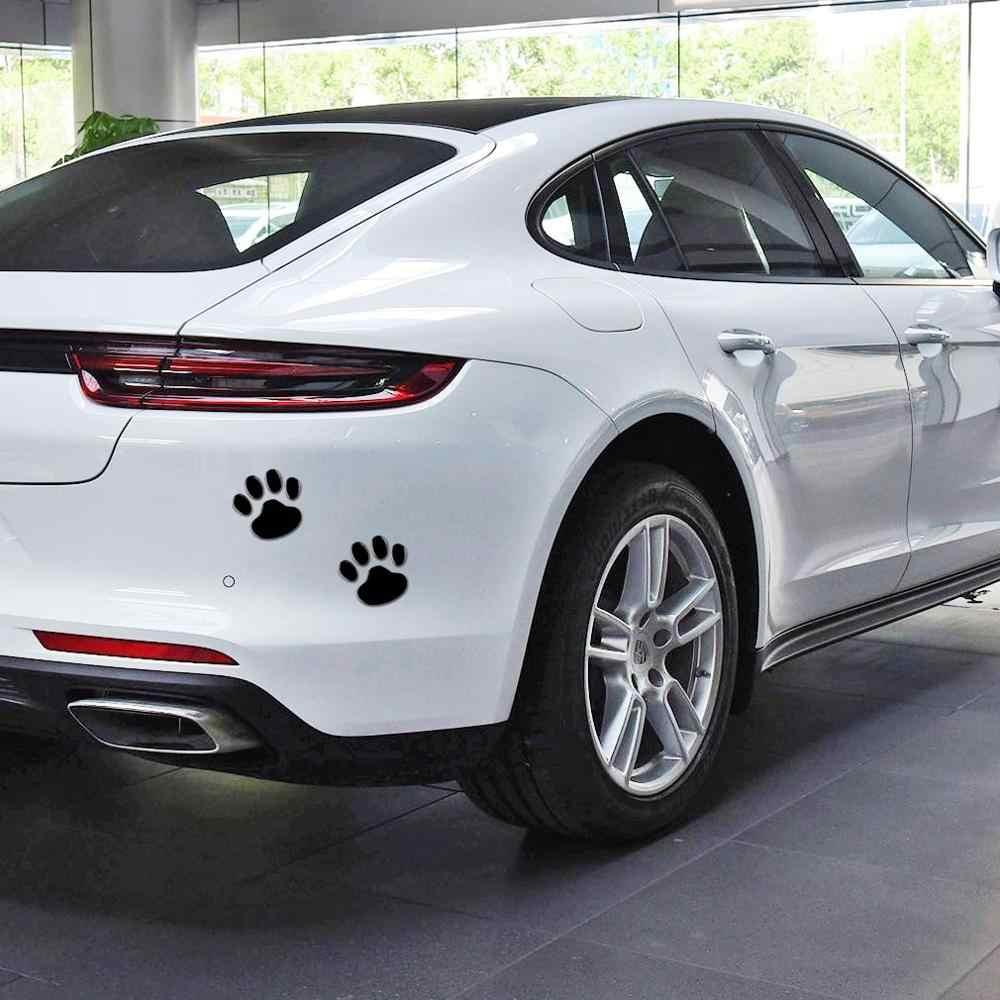 2 шт./компл. автомобильные наклейки s и Переводные картинки в виде лап, 3D Животные, собака, кошка, медведь, ножки, фотонаклейки для автомобиля, серебристые, красные, черные, золотистые