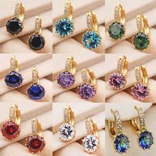 12 style Fashion Gold earrings Drop hoop Earrings for Women #8217 s earrings Gold white Dangle Earrings Wedding Jewelry accessories cheap SANYU Copper Alloy OBS0006 ROUND Drop Earrings TRENDY Stone OBS4847_Pearl zircon 1Pairs 0 9*0 9cm women s earrings